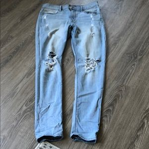Express leggings mid rise ripped jean